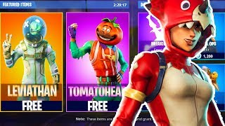 "NEW SKINS Out TODAY! NEW ""Tricera Ops"" and ""Tomatohead"" Skin in Fortnite Battle Royale!"