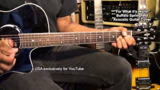 Buffalo Springfield FOR WHAT IT'S WORTH Acoustic Guitar Cover EricBlackmonMusicHD