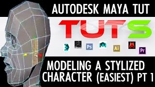 Autodesk Maya Tutorial - Modeling a stylized character (easiest) part 1