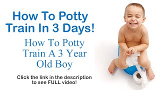 How To Potty Train In 3 Days - How To Potty Train A 3 Year Old Boy