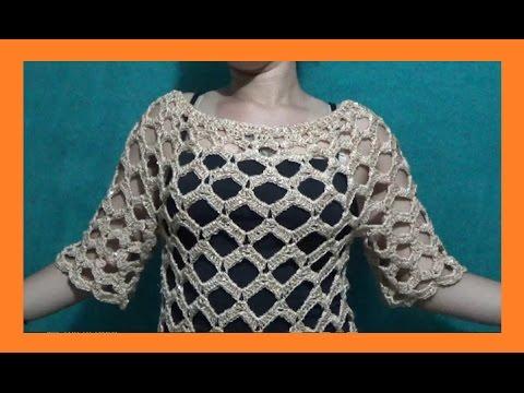 5dbfdd635 Blusa Calada Para Toda Ocasión a Crochet - YouTube