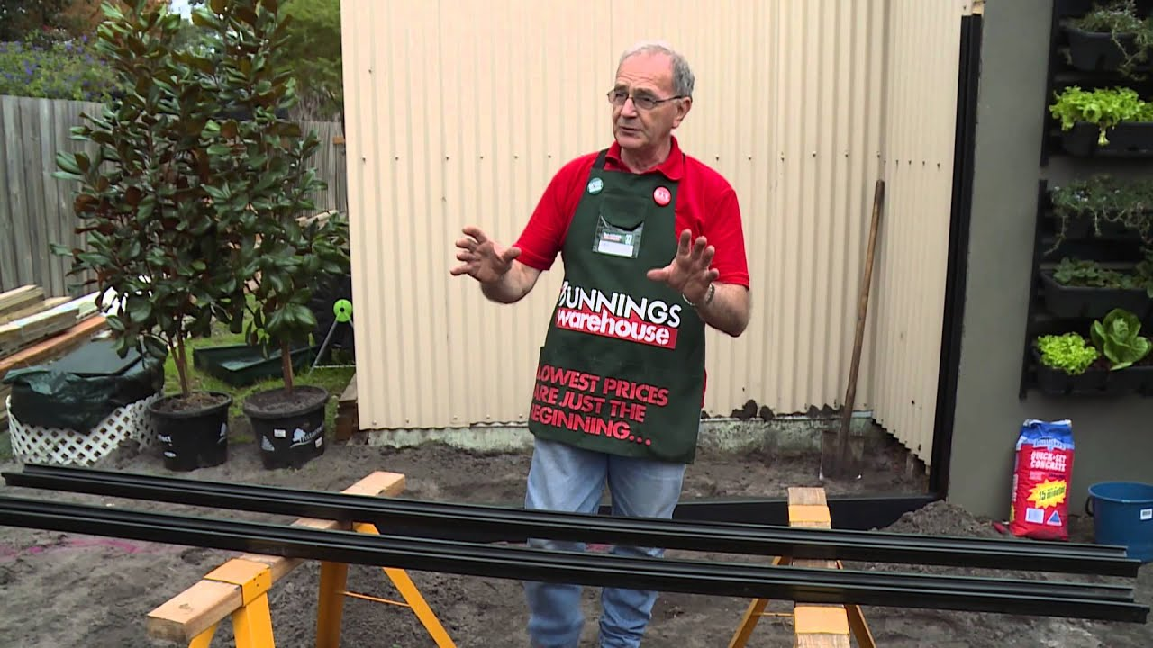 How To Set-Out Posts For A Colorbond Fence - DIY At Bunnings
