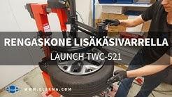 Renkaan vaihto | Launch TWC-521 Rengaskone Lisäkäsivarrella