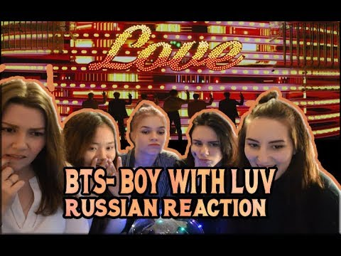 BTS - Boy With Luv feat. Halsey' Official MV | RUSSIAN REACTION