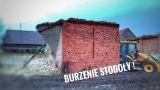 ☆ Burzenie stodoły , równanie podwórka - prace budowlane ☆ ||JCB&MF||