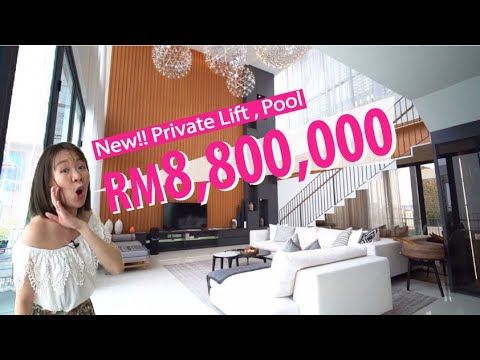 Kuala Lumpur: RM8.8Million Brand New Hilltop Bungalow Villa with Private Lift & Pool in Malaysia