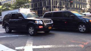 3 UNITED STATES SECRET SERVICE UNITS NAVIGATE THROUGH TRAFFIC DURING U.N. GENERAL ASSEMBLY MEETINGS.
