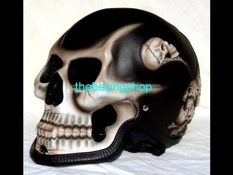 Custom Design Skeleton Full Face Motorcycle Helmet Review by thebeijingshop.com