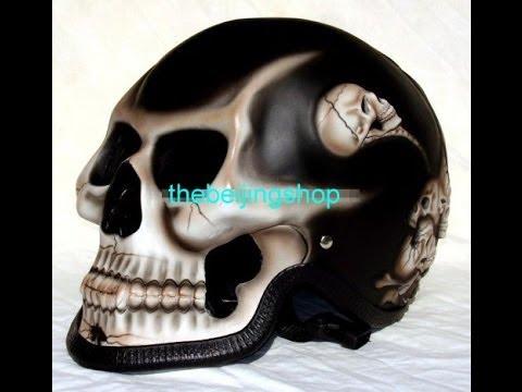 Custom Design Skeleton Full Face Motorcycle Helmet Review by thebeijingshop.com