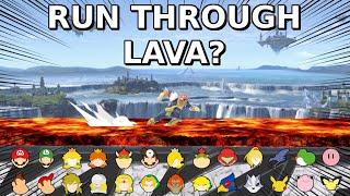 Who Can Make It? Run Through Lava - Super Smash Bros. Ultimate