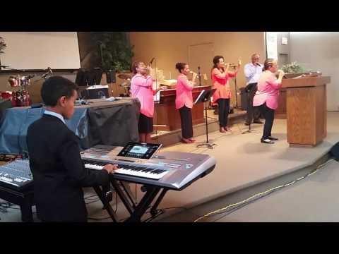 Rehoboth Ethiopian Evangelical Church Edmonton  10 years Ethan playing keyboard