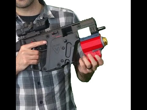 3D Printed 40mm Airsoft Grenade Launcher!