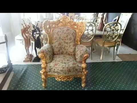 gold leaf baroque sofa