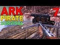 [7] Building Our First Battle Raft! The Salty Sea Dog! (ARK Modded PVP Pirate Survival)
