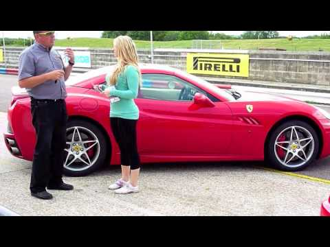 Hot Girl Driving and Parking a Ferrari California