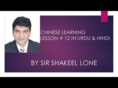 Chinese Learning Lect#12 in urdu /Hindi by Sir Shakeel Lone#togo#comeconceptinchinese