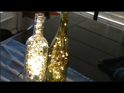 how to put lights in a wine bottle without drilling