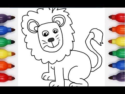 كيف رسم و تلوين اسد Youtube
