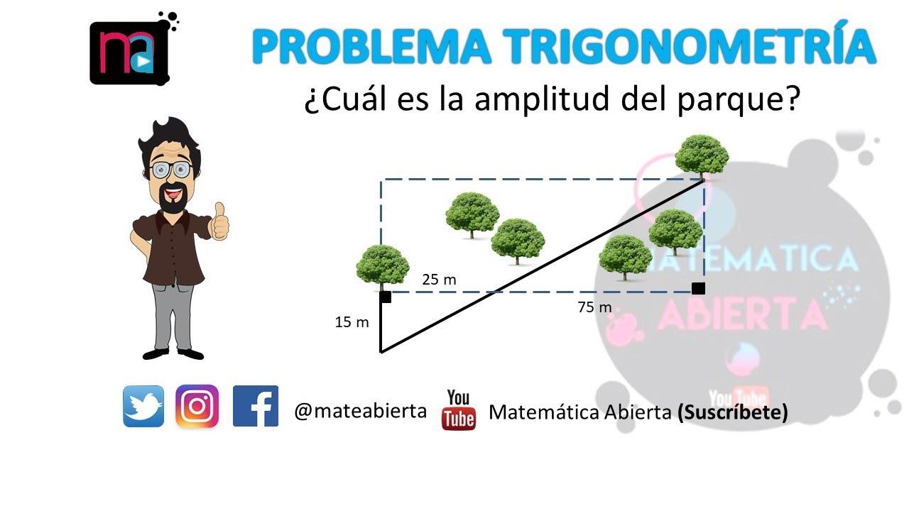 Problema N 1 De Trigonometria En Triangulos Rectangulos Nivel Medio Youtube