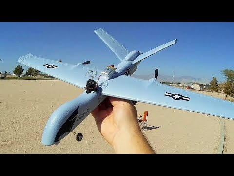 Z51 Predator Drone (MQ-9 Reaper) FPV Camera Conversion Flight Test Review