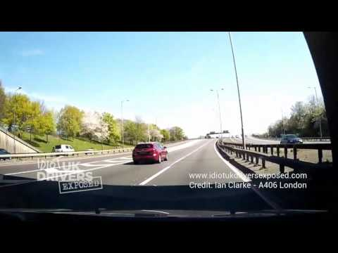 HGV crashes into car - caught on dash cam, A406 London UK - Crash accident caught on camera