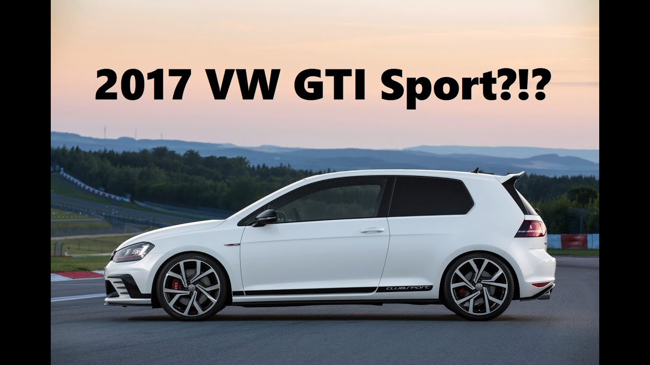 2017 volkswagen golf gti sport. Black Bedroom Furniture Sets. Home Design Ideas