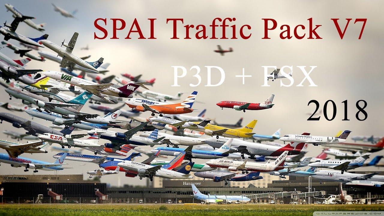 [FSX-P3D] Hướng dẫn cài đặt SPAI Traffic V7 - How to install traffic for  FSX - P3D | 100% Working!