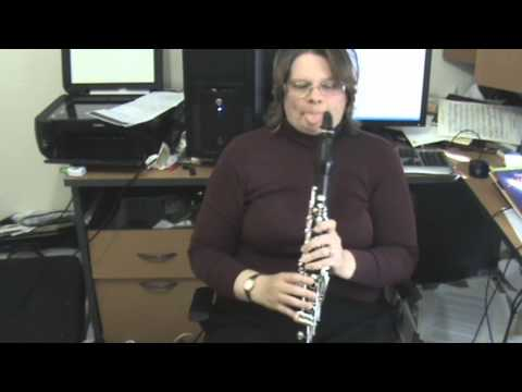 Scales for beginner clarinet players A minor