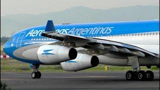 Aerolíneas Argentinas A340-300 taxi at Mardid-Barajas Airport