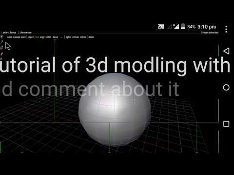 3D Modeling In Android (easy) {texture Material Paint And All} Like Autodesk Maya Max Tutorials Free