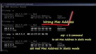 2 /6 ... Set Static Mac Address of Gateway. (การกำหนด Mac แบบถาวร)