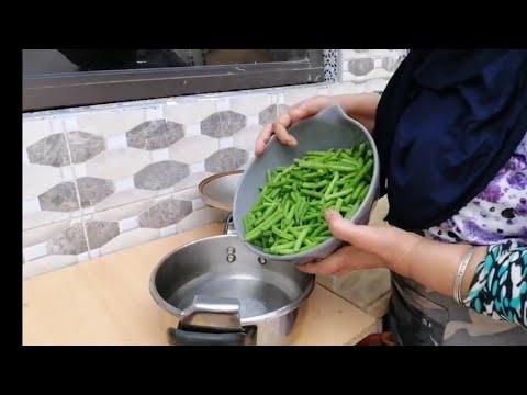 شوفو اشنو حضرت لالة رابحة بالفاصوليا الخضراء(اللوبيا) طريقة ولا اسهل💕🔥