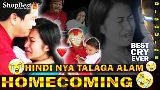 Mister isang OFW nagbalikbayan ng naka SUPER HERO costume para sorpresahin ang kanyang mag Ina