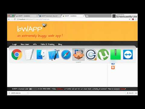 How to install bWAPP in MacBook Pro  - Hacking | web