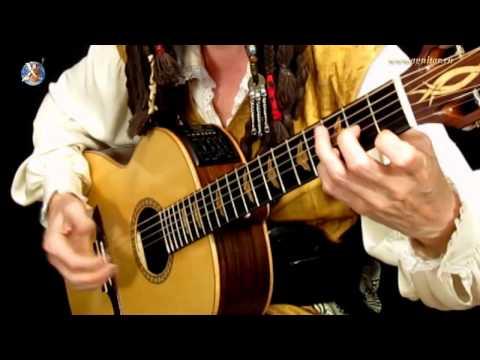 Пираты Карибского Моря  Игра на гитаре