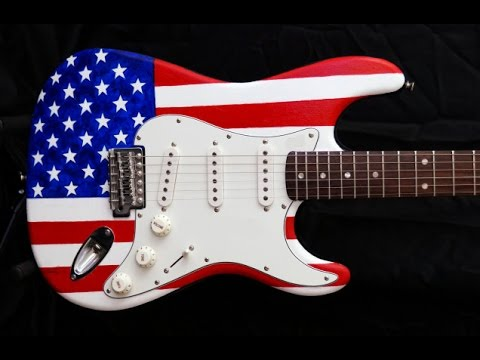 Star Spangled Banner Guitar Lesson (download tab below) - Hendrix style w/ flashy Steve Vai endings