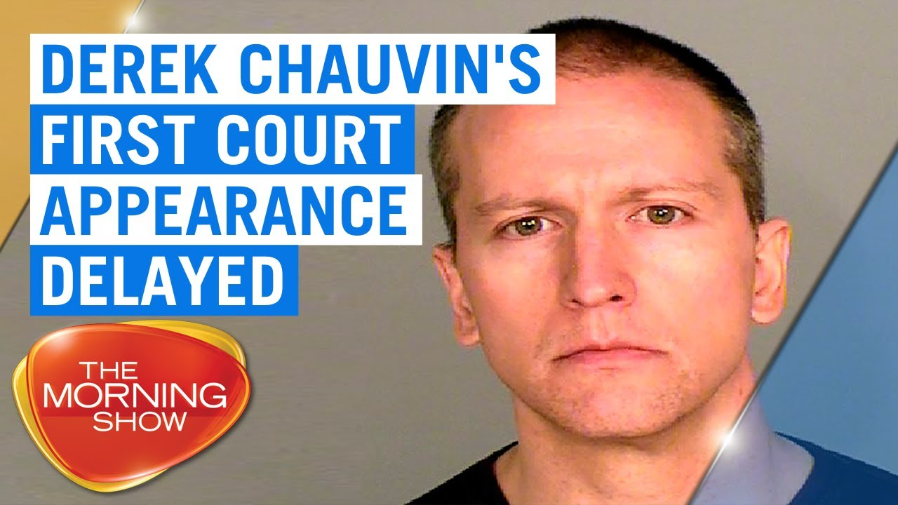 George Floyd Death Derek Chauvin S Court Appearance Delayed 7news Youtube