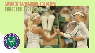 Maria Sharapova vs Kristina Mladenovic - 2013 Wimbledon R1 Highlights