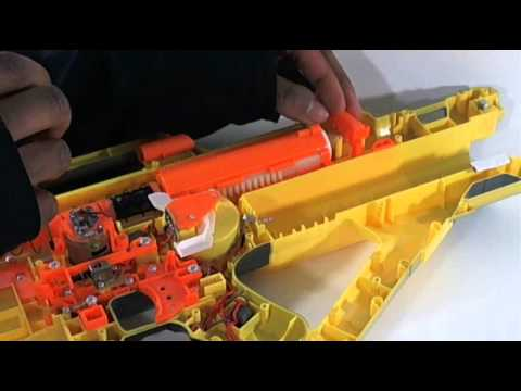 Nerf Stampede Ar Removal And Spring Upgrade Demo Youtube