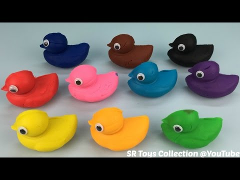 Play and Learn Colours with Playdough Ducks Animal Molds Fun & Creative for Children