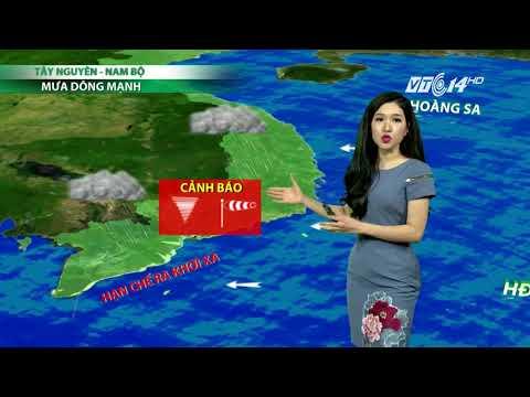 VTC14   Thời tiết 6h 18/11/2017  Mưa diễn ra ở một số tỉnh, thành phía Nam