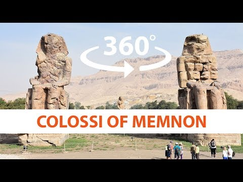 Colossi of Memnon VR 4K 360° 3D video - Luxor Ancient Egypt