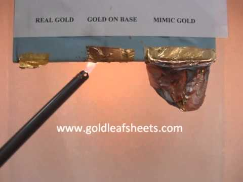 How To Test Real Gold Leaf Sheets You