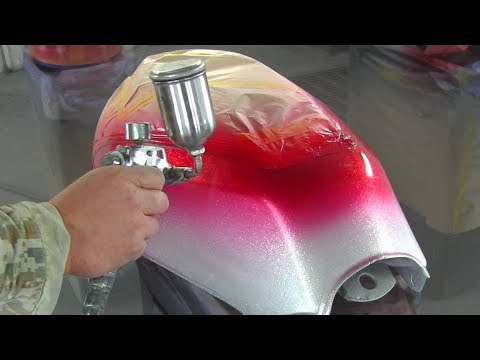 How To Custom Paint a Motorcycle / How to paint Candy colore / カスタムペイント