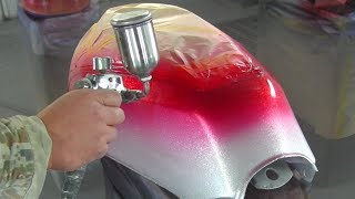 How to custom paint a motorcycle / How to paint candy color / Candy painting