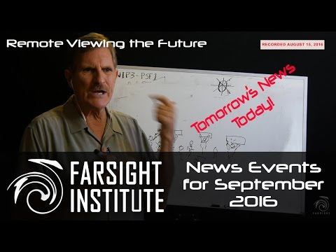 Farsight's Time-Cross Project for September 2016: Remote Viewing the Future