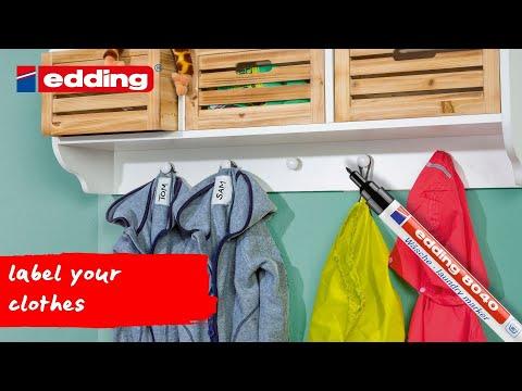 Edding Label Wäschemarkierset Dauerhaften Beschriften Textilien Kleidung Schwar