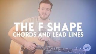 Gitarrenunterricht - mit der F-Form zu erstellen, Akkorde und lead-lines