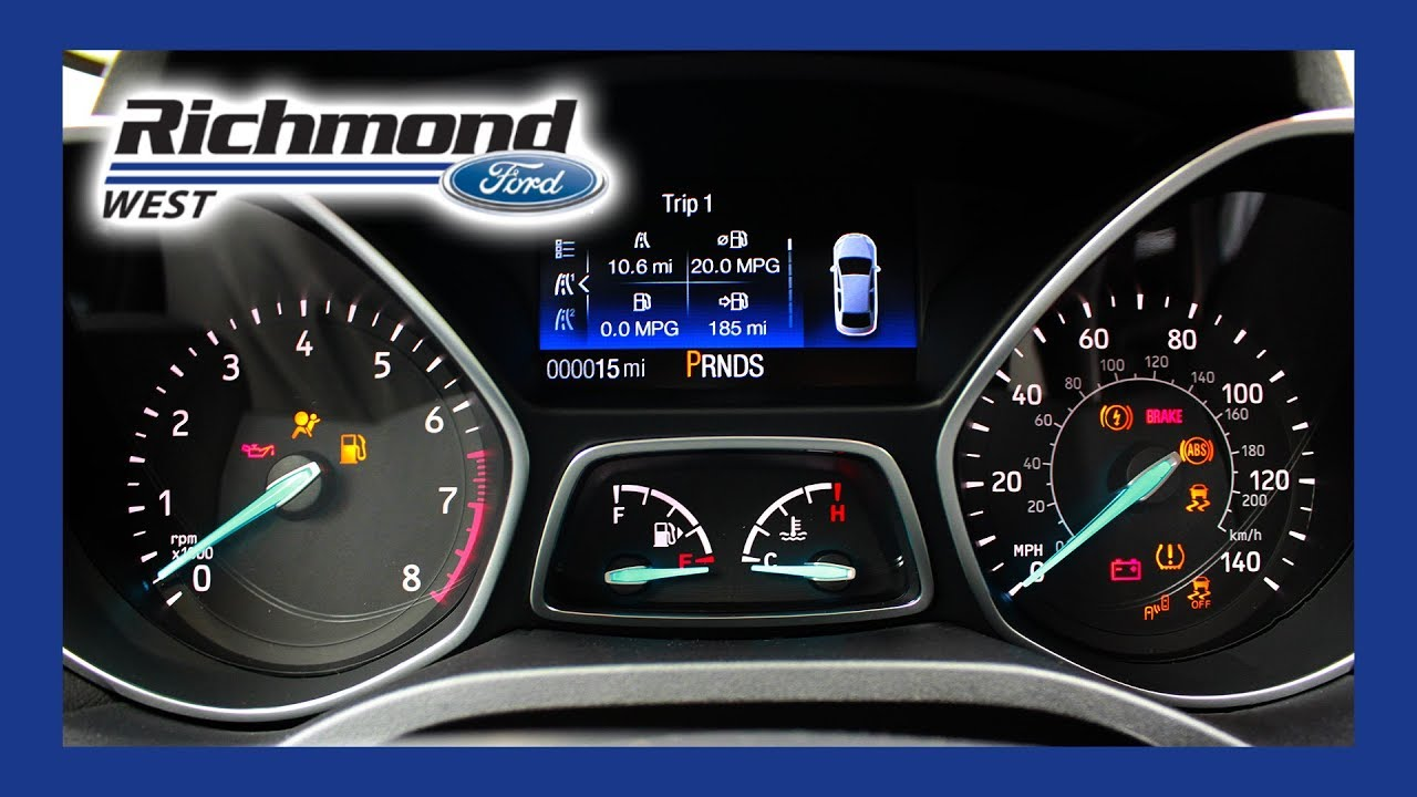 Ford Escape What Do My Dash Lights Mean Youtube 2007 Fusion Radio Display