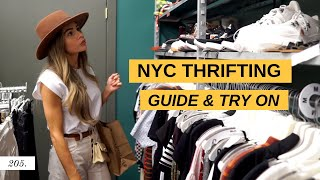 NYC THRIFTING GUIDE AND TRY-ON